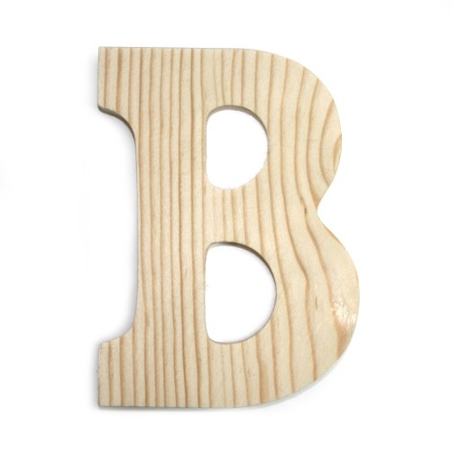 Large Block Wood Letters 6in - B - Beverlys.com