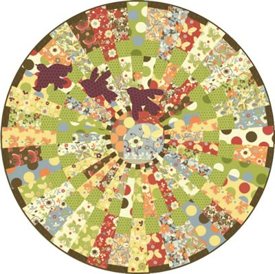 Pattern round table quilt my quilt pattern for Round table runner quilt pattern