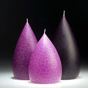 Artisan Candles with a Crackled Finish - Assorted Trio