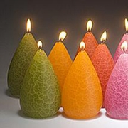 Artisan Little Candles with a Crackled Finish - Set of 2