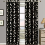 Charlotte Pair (Set of 2) Jacquard Grommet Window Curtain Panels