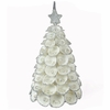 Christmas Tree Ornament with Clamrose Shells - Set of 2
