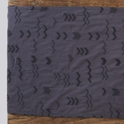 Coyuchi Organic Abstract Embroidered Voile Table Runner