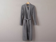 Coyuchi Organic Cotton Unisex Heather Flannel Robe