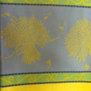 French Provence Table Cloth - Yellow Jacquard