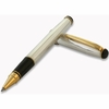 Grifos Italian Silver Pin Stripe Rollerball Pen with Gold Accents