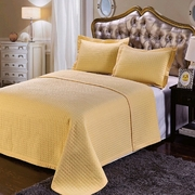 Luxury Checkered Quilted Wrinkle Free Microfiber Coverlet Set