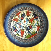 Medium Navy Blue Tulip Bowl