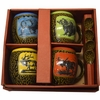 Mug with Spoon - Set of 4 - Assorted Wildlife
