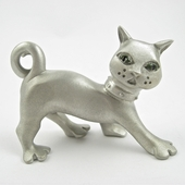 Pewter Cat Picture Holder