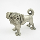 Pewter Pug Picture Holder