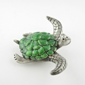 Pewter Sea Turtle