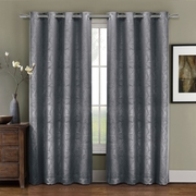 Prairie Blackout weave Embossed Gromment Curtains Panel