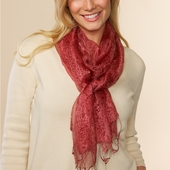Rasa Rose Silk Scarf