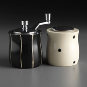 Salt and Pepper Set - Black and White