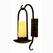 Single Wall Sconce with Onyx Stone Shade