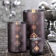Snowflake Design Luminary Votive Holder - Set of 2