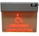 "10.5"" x 14"" 120/277vac Edge-Lit Illuminated Hanging Sign <br> (Single Sided)"