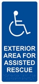 "11"" x 5"" Area for Assisted Rescue <br> (Exterior Wall Sign)"