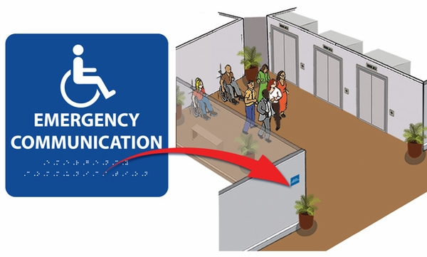 "7-3/4"" x 7-3/4"" Emergency Communication<br>(Wall Sign)"