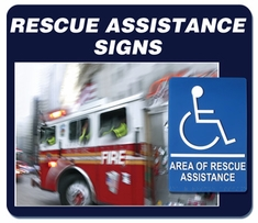 Area of Rescue Assistance Signs