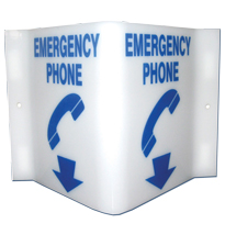 "Emergency Phone Sign 12"" x 6"""