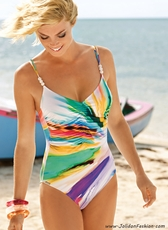 Color Splash Body Control One Piece Bathing Suit