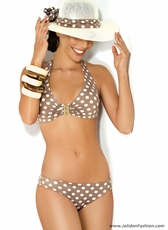 Coffee Latte Polka Dot Bikini