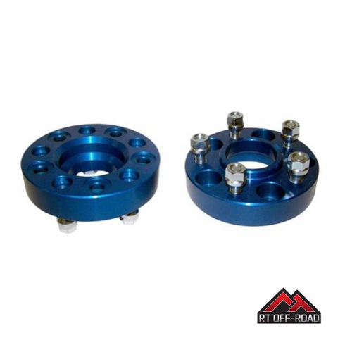 """1.25"""" Wheel Spacer Set, 5 On 4.5"""" Bolt Pattern, 1984-2014 Jeep Models by RT Off-Road"""