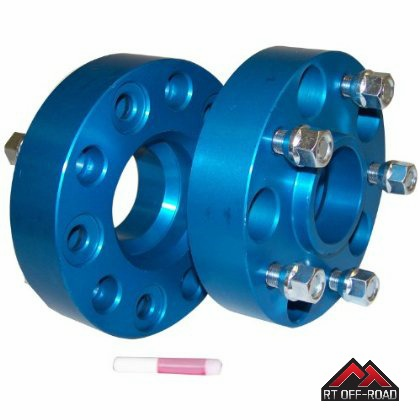"1.5"" Wheel Spacer Kit, 5 on 5"" Bolt Pattern, 1999-2015 Jeep Models  by RT Off-Road"