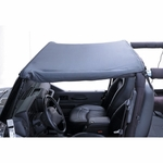 Summer Brief Top, Black, 87-91 Jeep Wrangler YJ by Rugged Ridge