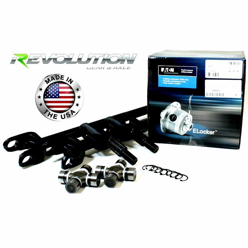 2007-2017 Jeep Wrangler JK Sahara & X Model, US Made D30 Front Axle Kit, 30 Spline Upgrade, w/Eaton E-Locker