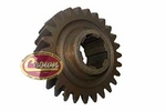 21) Mainshaft gear for 1972-79 Jeep CJ with model 20 transfer case, (mark 18-8-55) T-150 transmission, 26 teeth count