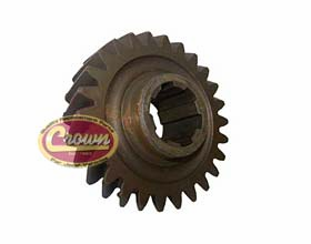 21) Mainshaft gear for 1972-79 Jeeps with model 20 transfer case, (mark 18-8-46) T-15 transmission, 26 teeth count