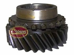 5) 2nd Gear, V6 engines only, S21/L26 teeth, 1967-71 Jeep CJ-5, CJ-6 with T-14 transmission