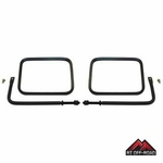 "8"" x 6"" Safari Mirror Set with Arms, fits 1976-1986 Jeep CJ, 1987-2015 Jeep Wranglers by RT Off-Road"