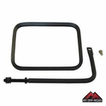 "8"" x 6"" Safari Mirror with Arm, fits 1976-1986 Jeep CJ, 1987-2015 Jeep Wranglers by RT Off-Road"