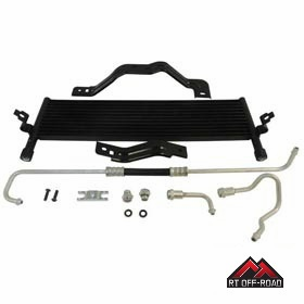 Automatic Transmission Oil Cooler Kit, 2007-2011 Jeep Wrangler JK with 3.8L Engine by RT Off-Road