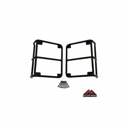Black Euro Tail Light Guards, 2007-2015 Jeep Wrangler JK by RT Off-Road