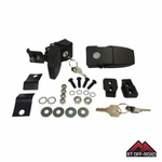 Black Locking Hood Catch Kit for 2007-2015 Jeep Wrangler JK by RT Off-Road