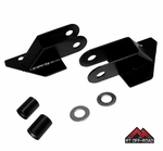 Black Mirror Relocation Brackets, 1987-1995 Jeep Wrangler YJ by RT Off-Road