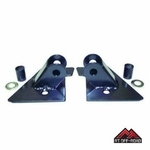 Black Mirror Relocation Brackets, 1997-2002 Jeep Wrangler TJ by RT Off-Road