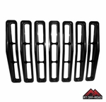 Black Plastic Grille Insert Set, 1987-1995 Jeep Wrangler YJ by RT Off-Road
