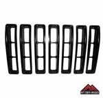 Black Plastic Grille Insert Set, 1997-2006 Jeep Wrangler TJ by RT Off-Road