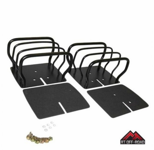 Black Rear Euro Tail Light Guards, 1976-1986 Jeep CJ, 1987-2006 Wrangler YJ, TJ by RT Off-Road