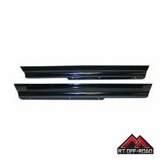 Black Rocker Panel Guards, 1997-2006 Jeep Wrangler TJ by RT Off-Road