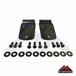 Black Stainless Steel Hood Hinge Set, fits 1997-2006 Jeep Wrangler TJ by RT Off-Road