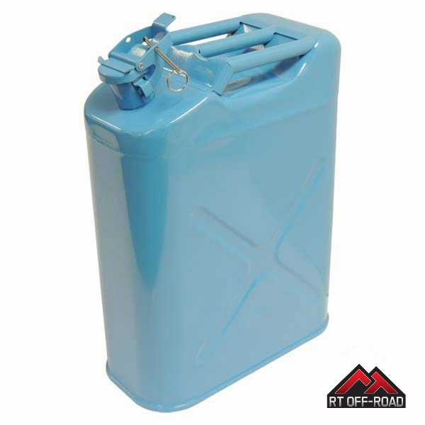 Crown [ RT11010W ] Blue 5 Gallon Steel Water Can for Jeeps and other Off-Road Vehicles