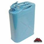 Blue 5 Gallon Steel Water Can for Jeeps and other Off-Road Vehicles by RT Off-Road