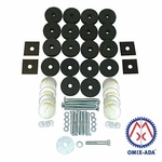 Body mounting kit, to mount body to frame, fits 1945-1955 Jeep CJ models